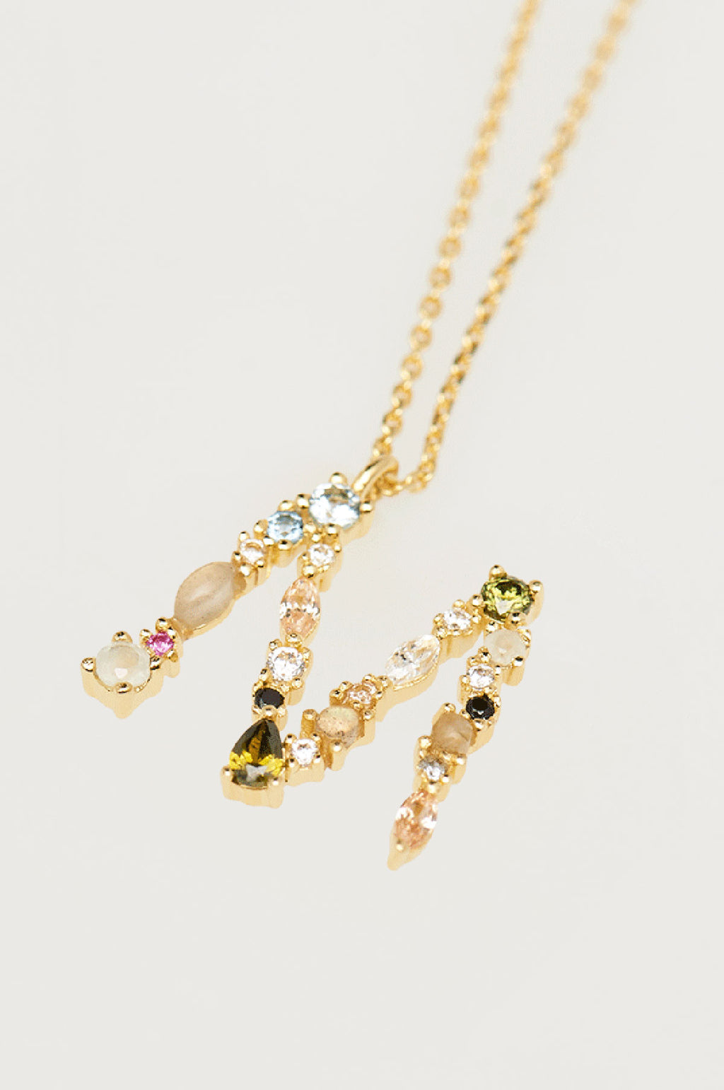 Letter M Gold Necklace