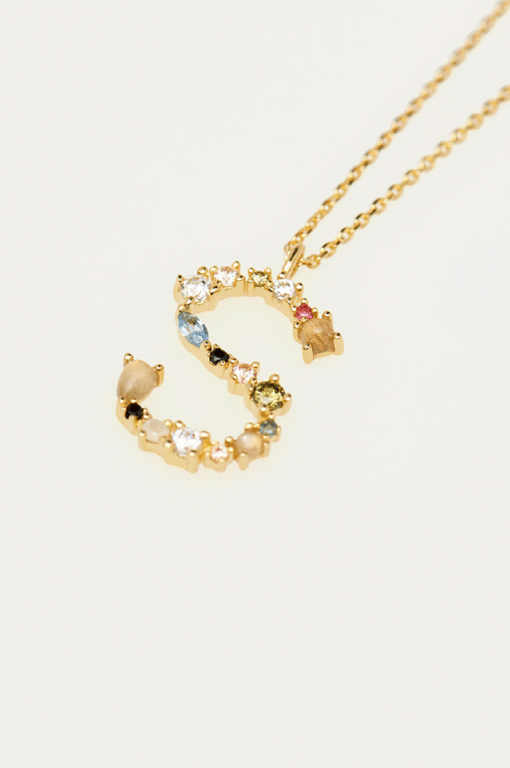 Letter S Gold Necklace