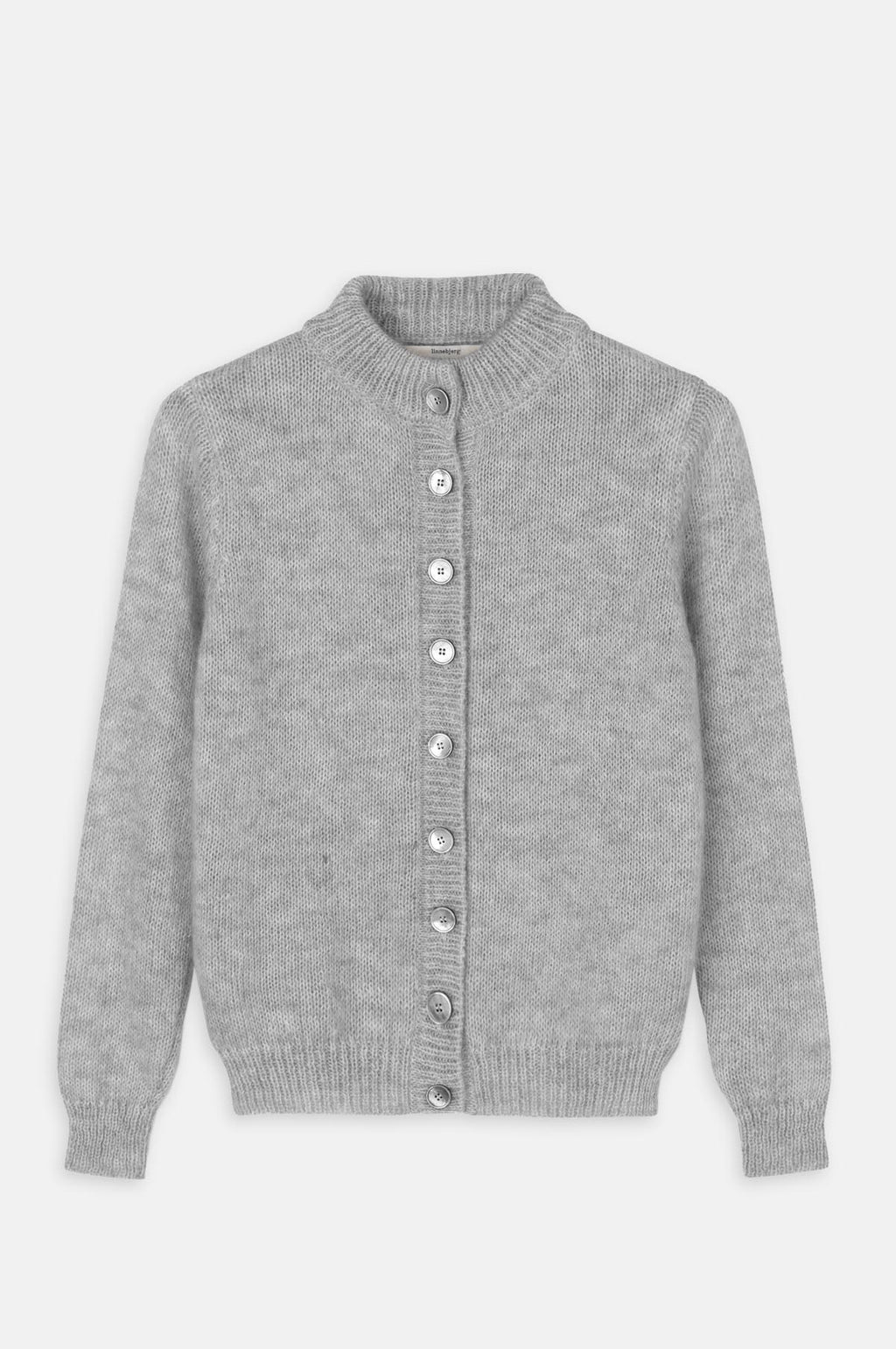 Malin Knitted Cardigan in Sweat Grey