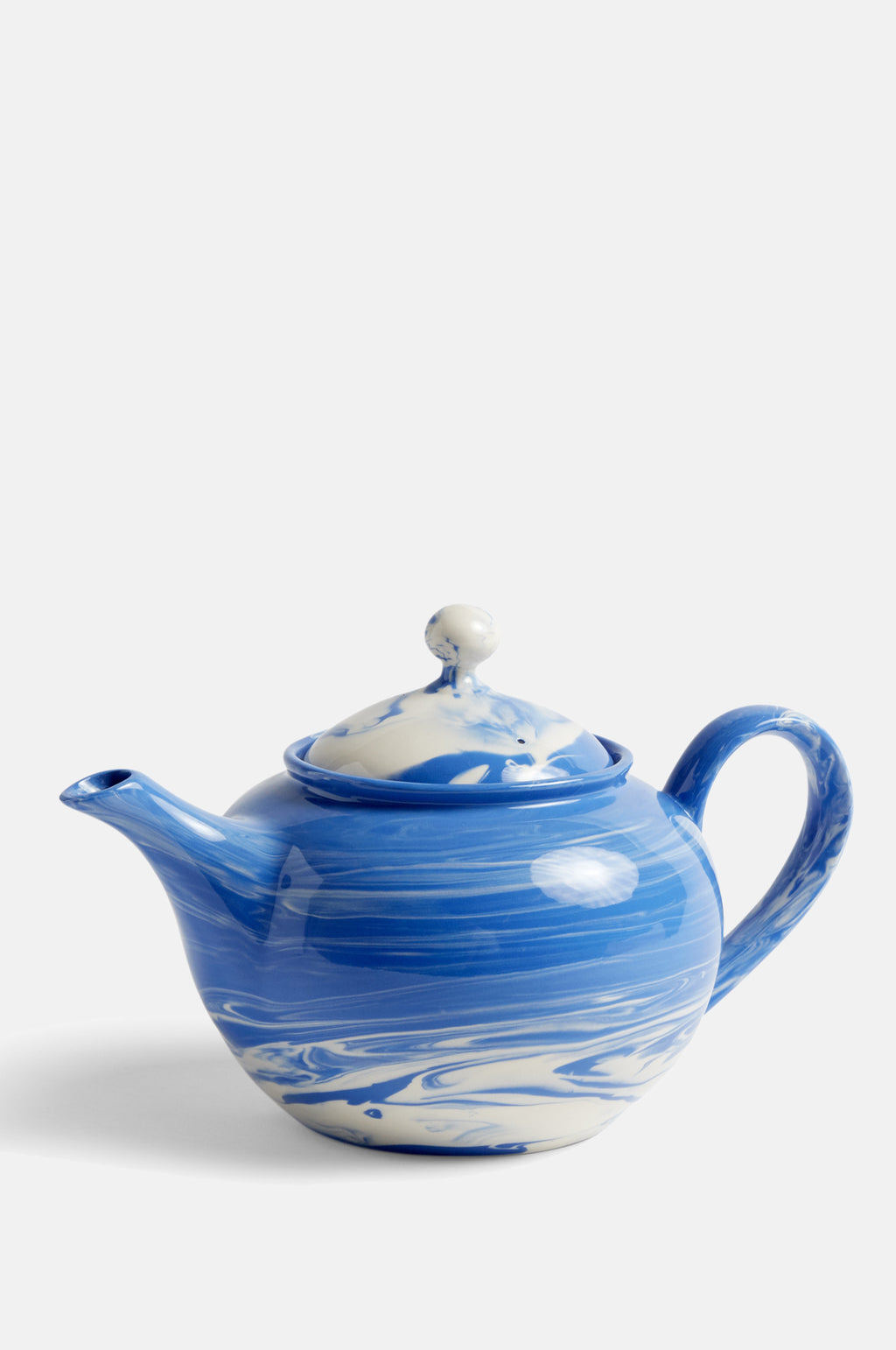 Marbled Teapot 0.8L in Blue