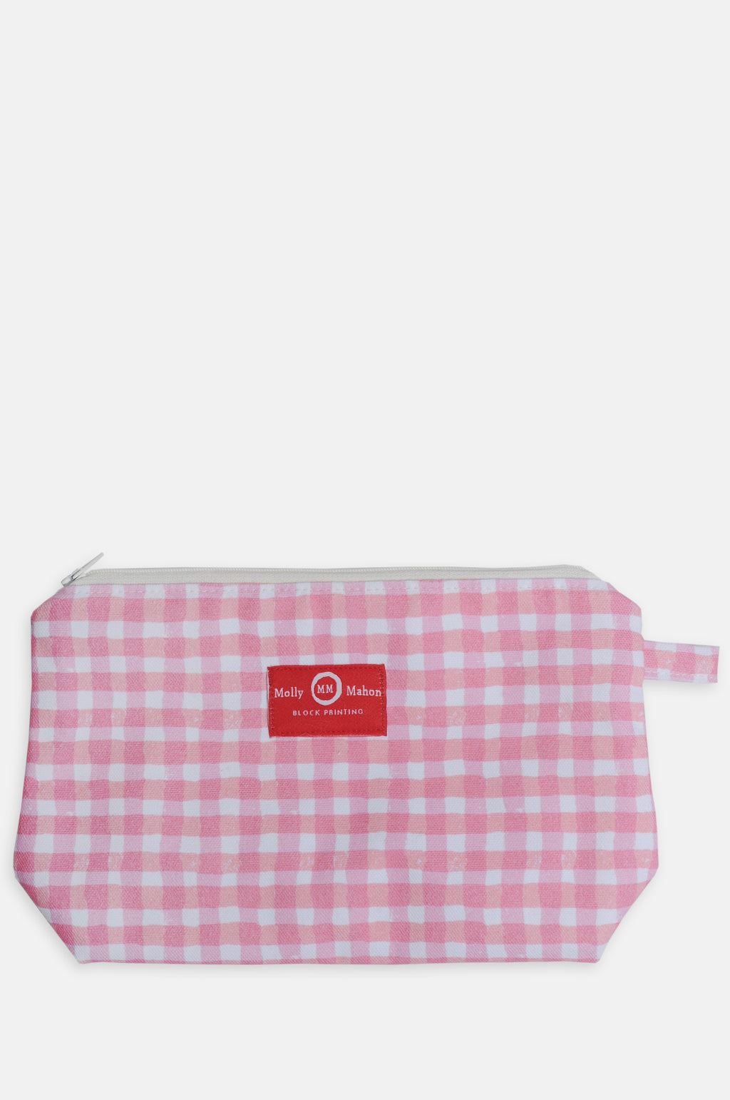 Medium Washbag in Pink Gingham