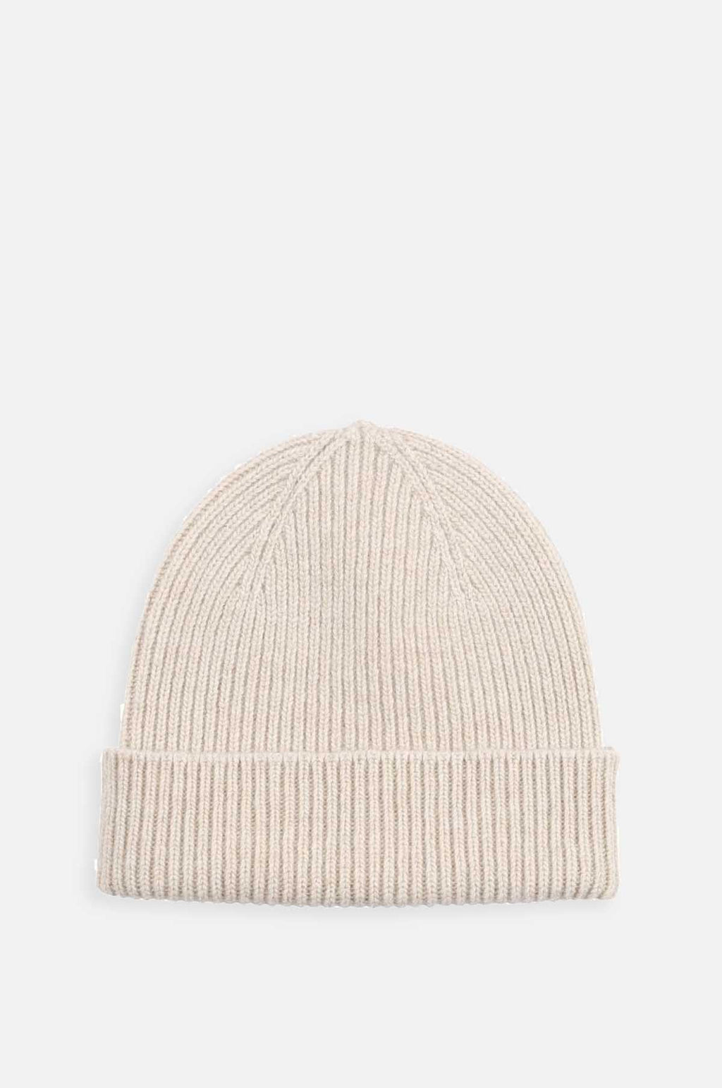 Merino Wool Hat in Ivory White