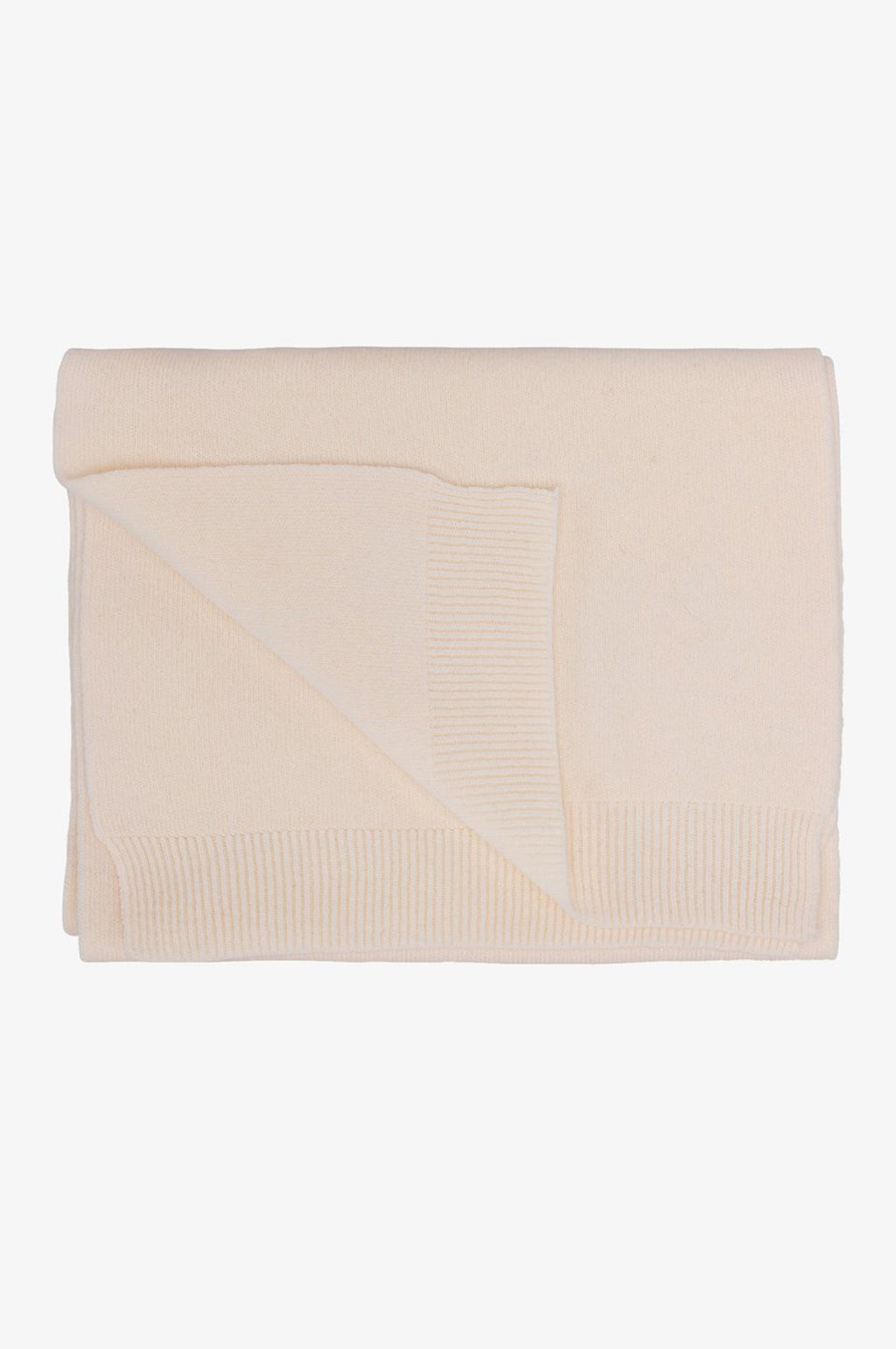 Merino Wool Scarf in Ivory White