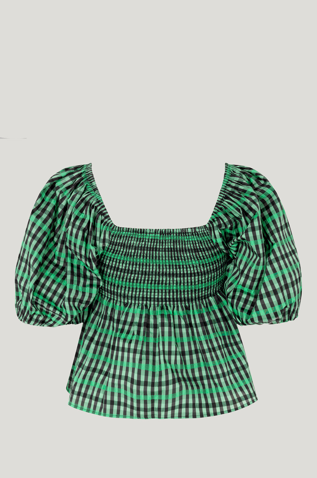 Mlyssa Top Gumdrop Green Check