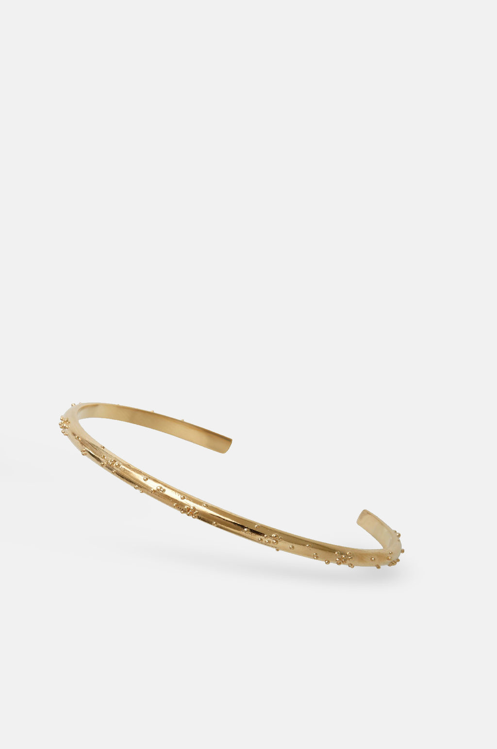 Moira Textured Gold Bangle Bracelet