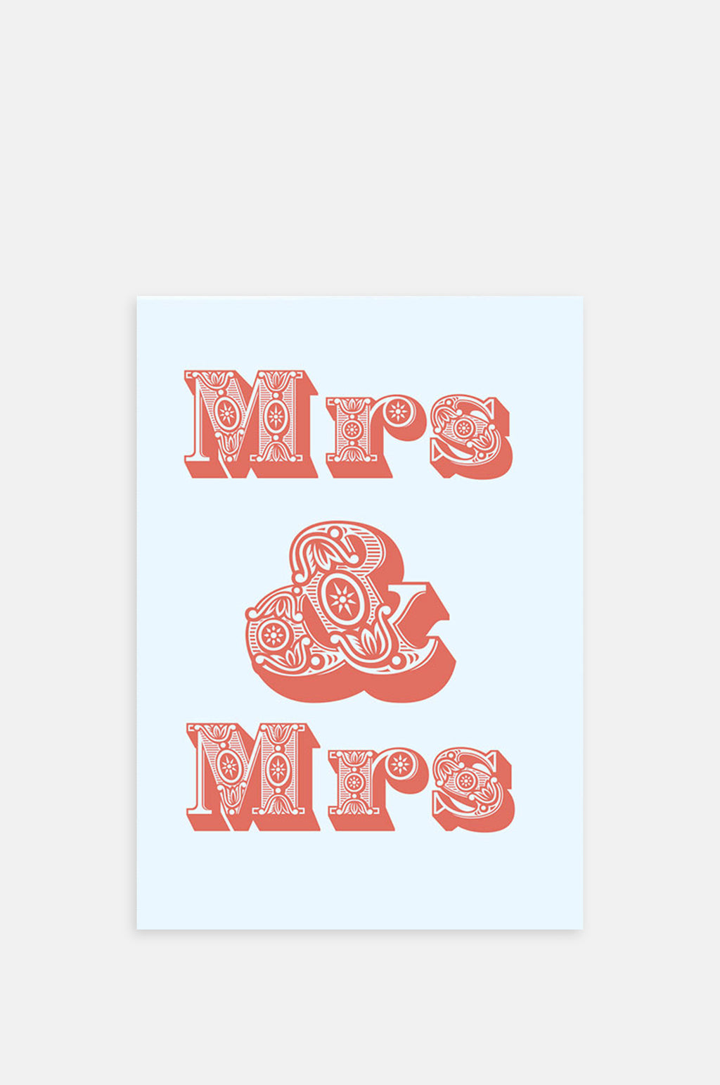 Mr & Mrs Card Pink/White
