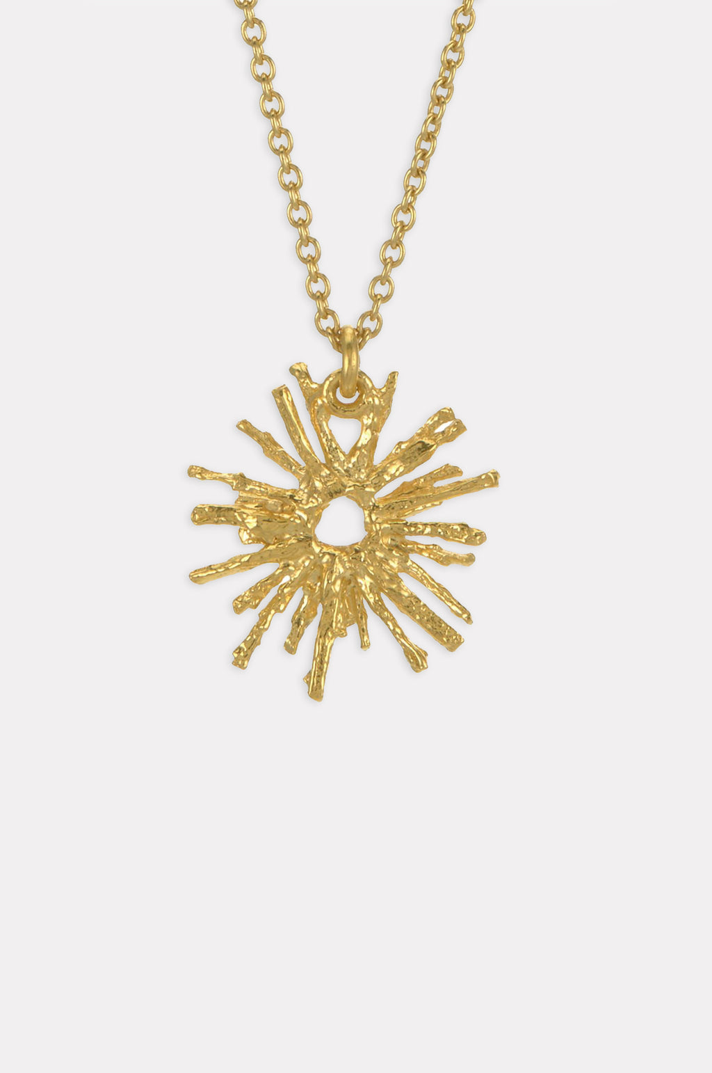 Nest Structure Full Circle Necklace Gold Plate