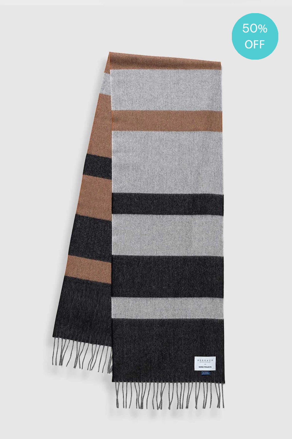 Begg & Co Scarf in Madder Brown