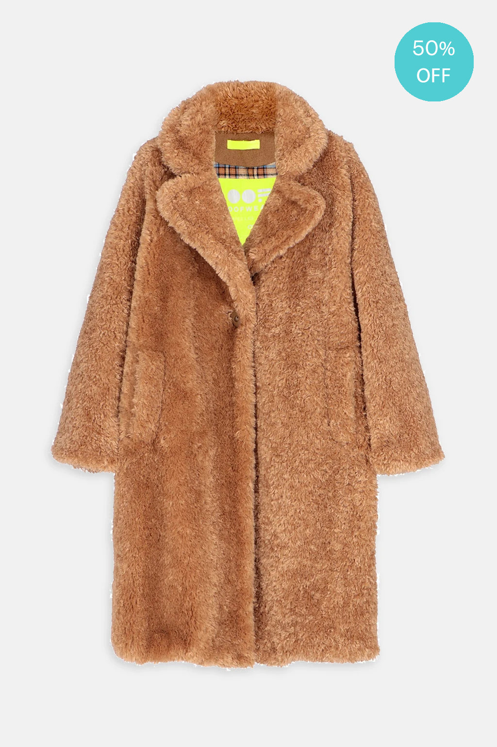 Teddy Coat in Camel