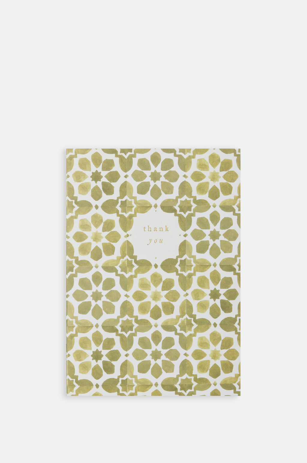 Olive Tiles Thank You Card