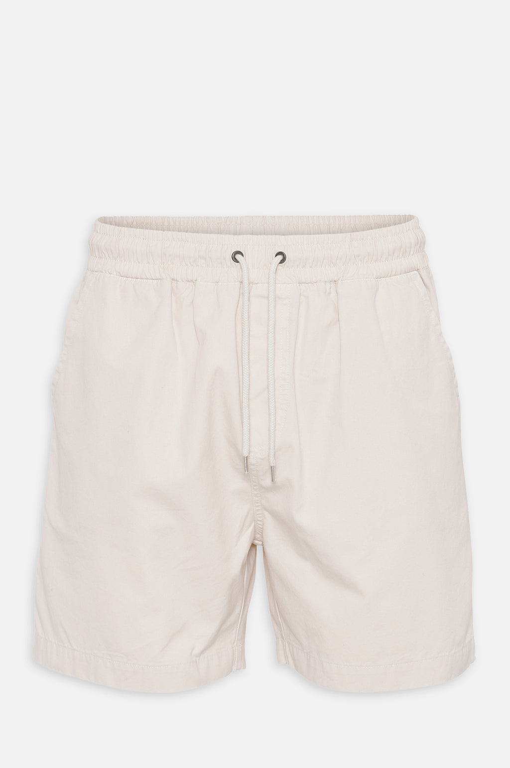 Organic Twill Shorts in Ivory White