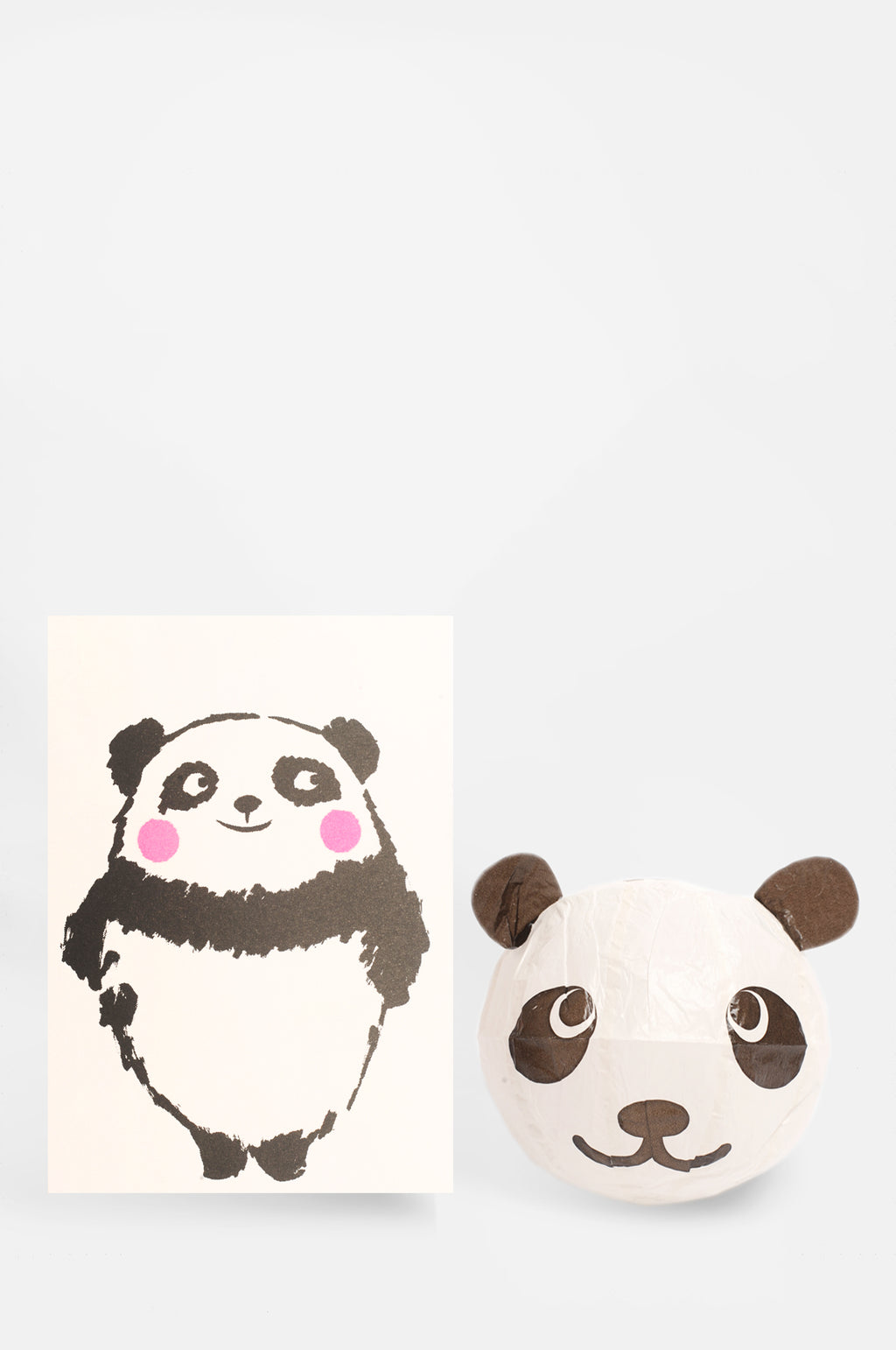 Panda Paper Balloon Card
