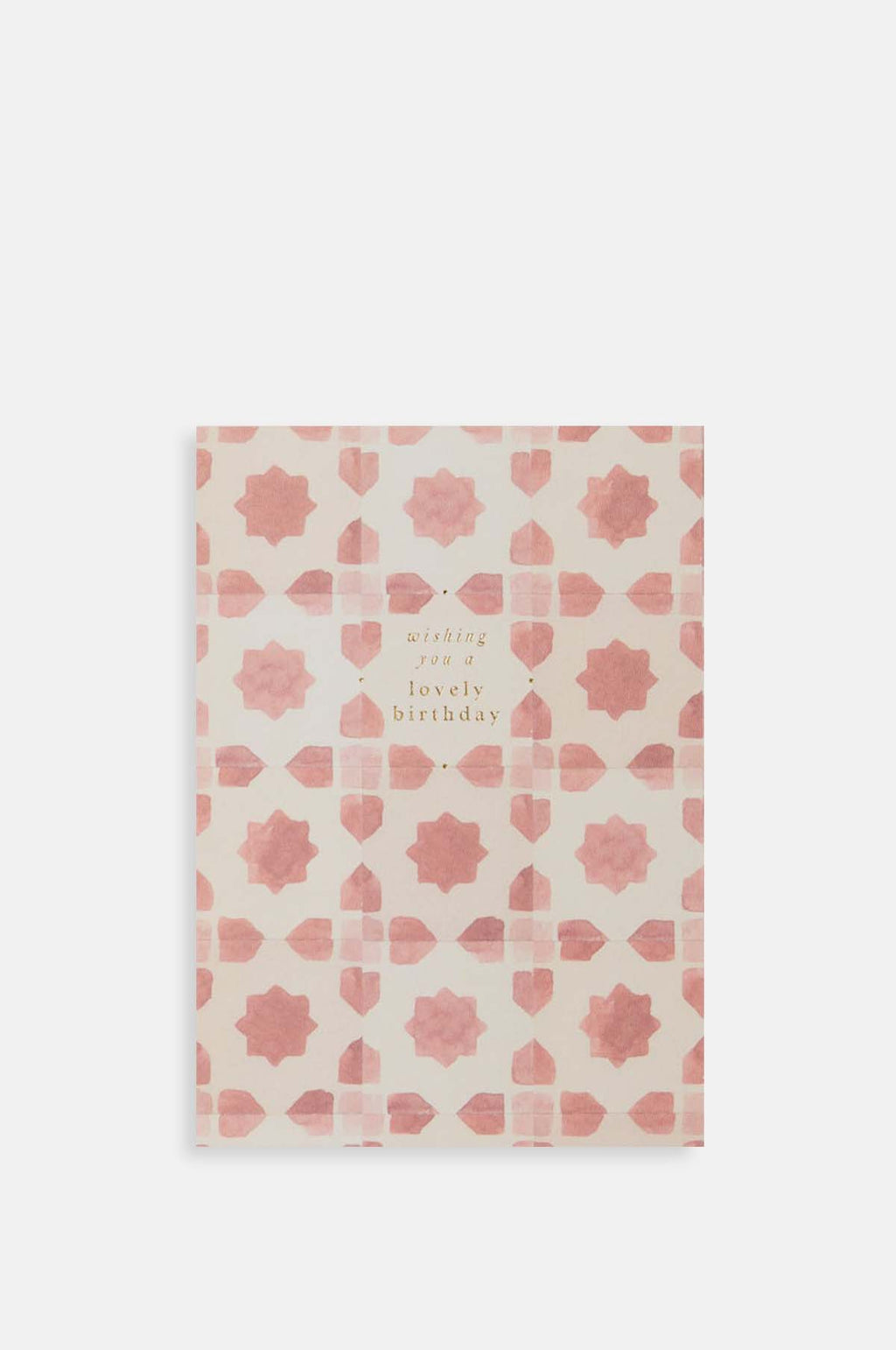 Pink Tile Lovely Birthday Card