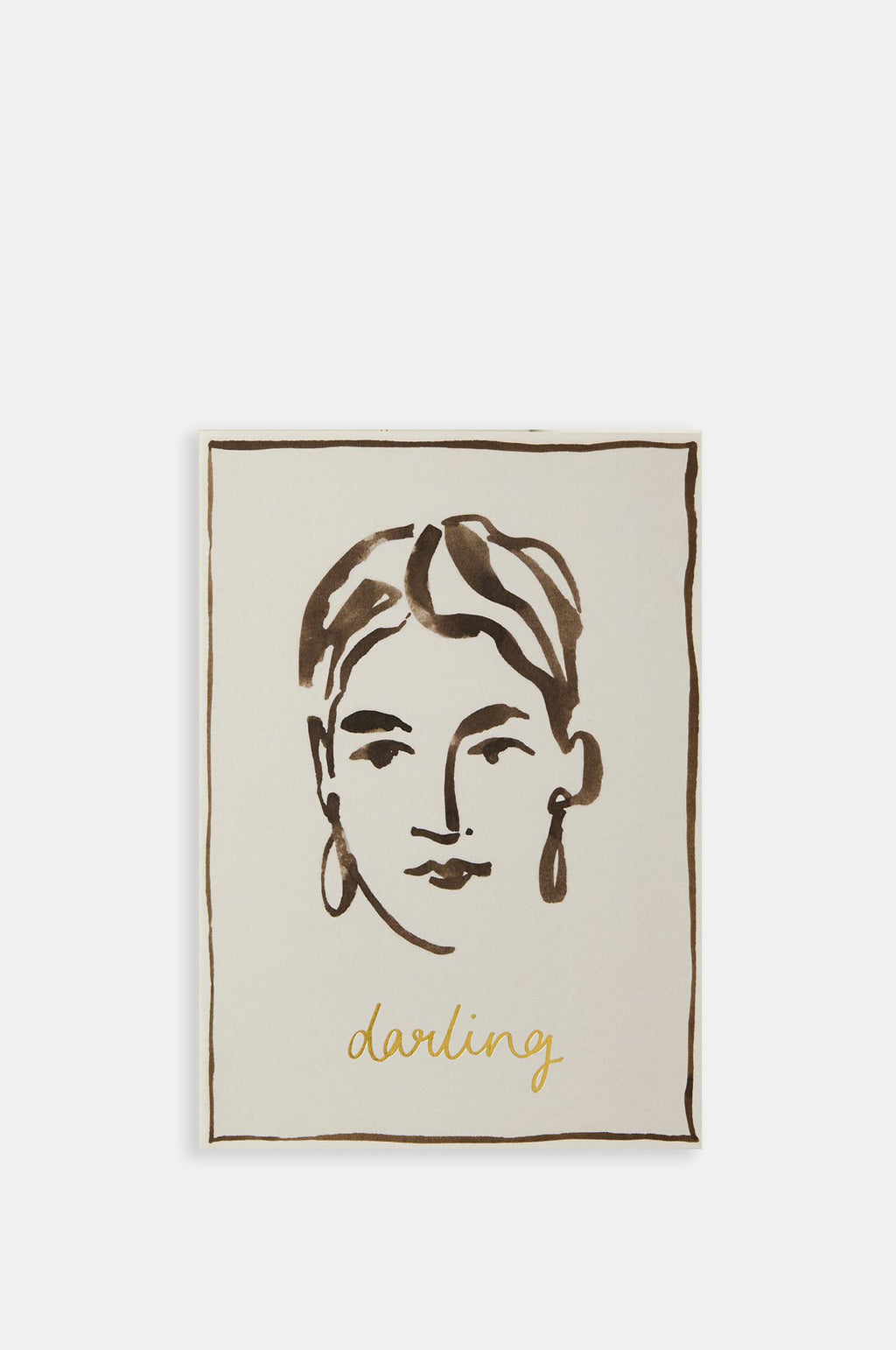 Portrait Darling Card
