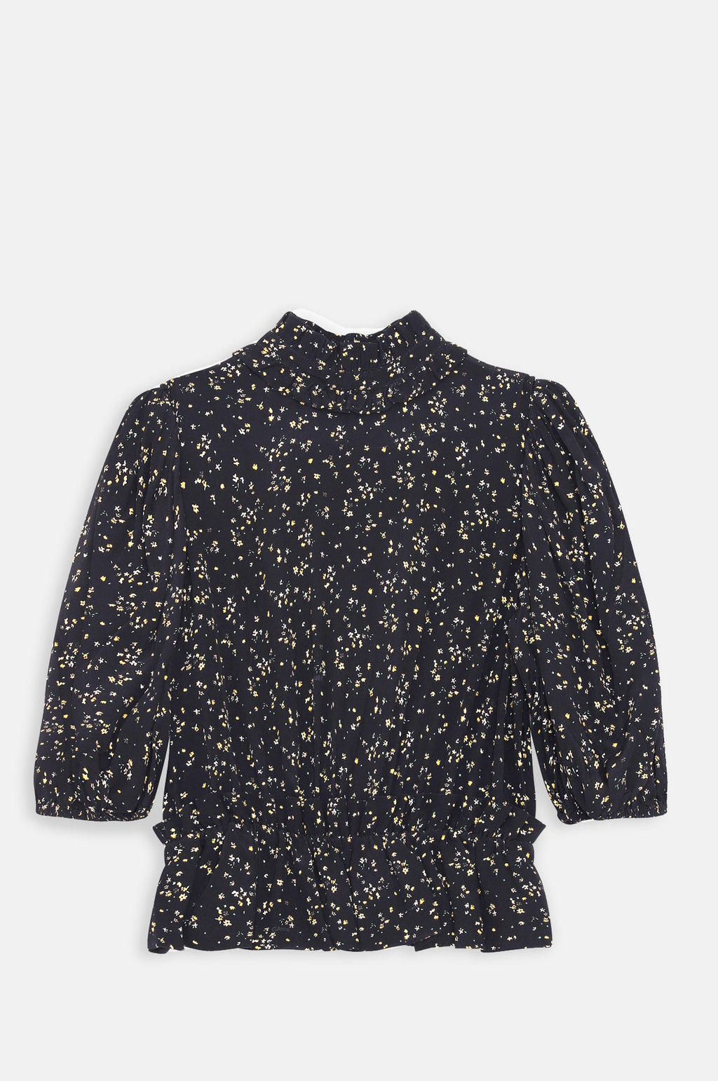 Printed Crepe Blouse Black