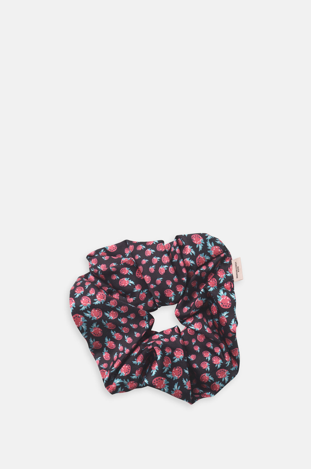 Raspberry Scrunchie Black