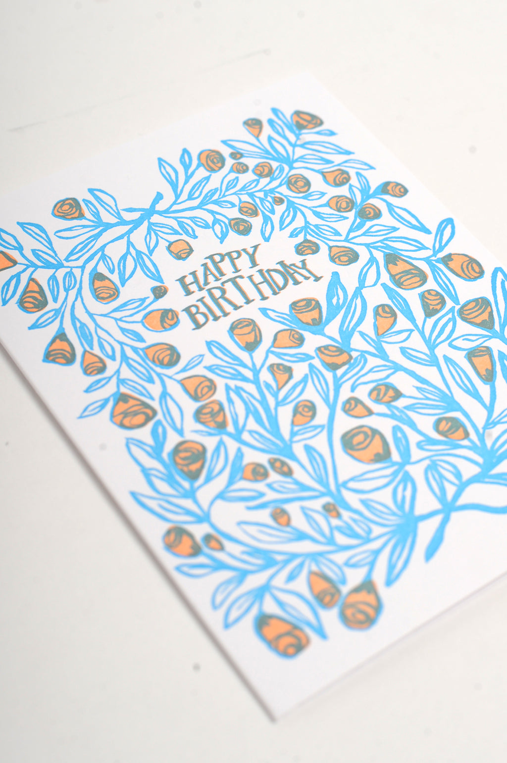 Rose Bush Birthday Card