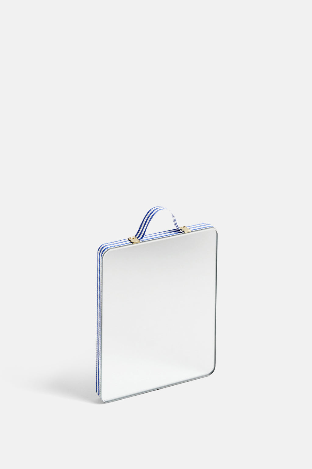 Small Ruban Rectangular Mirror in Blue Stripe