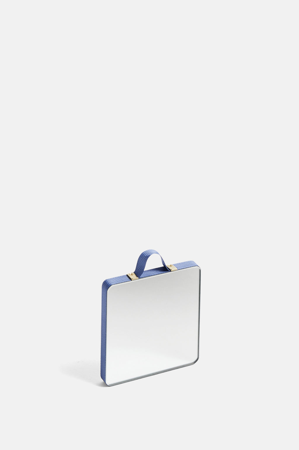 X-Small Ruban Square Mirror in Blue