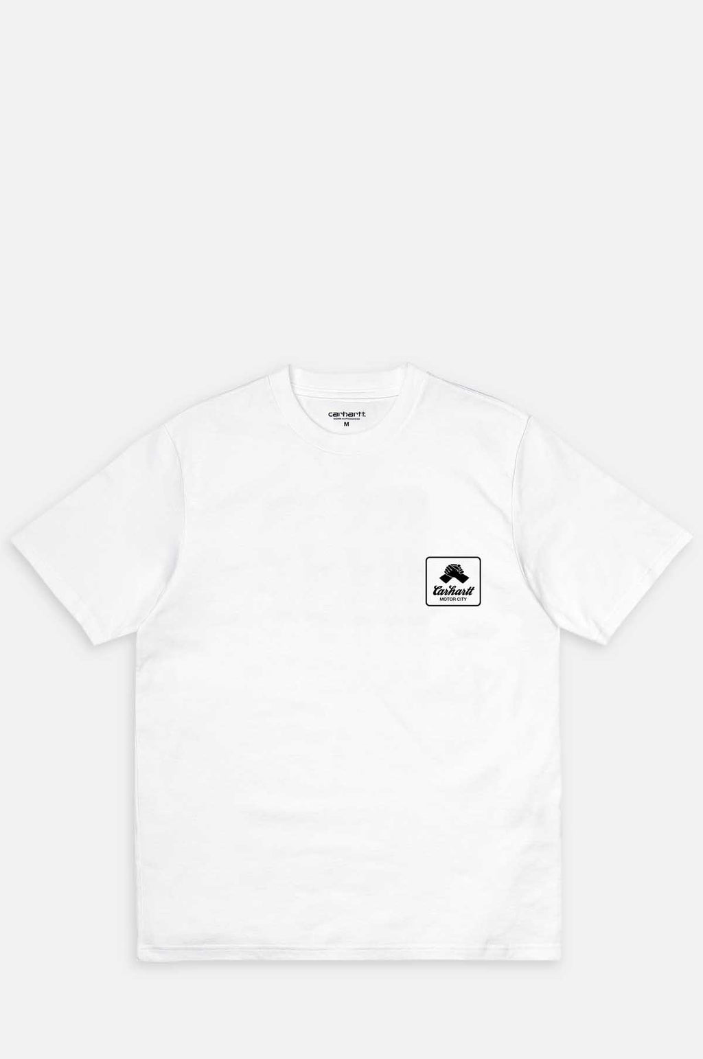 Short Sleeve Peace State T Shirt in White and Black