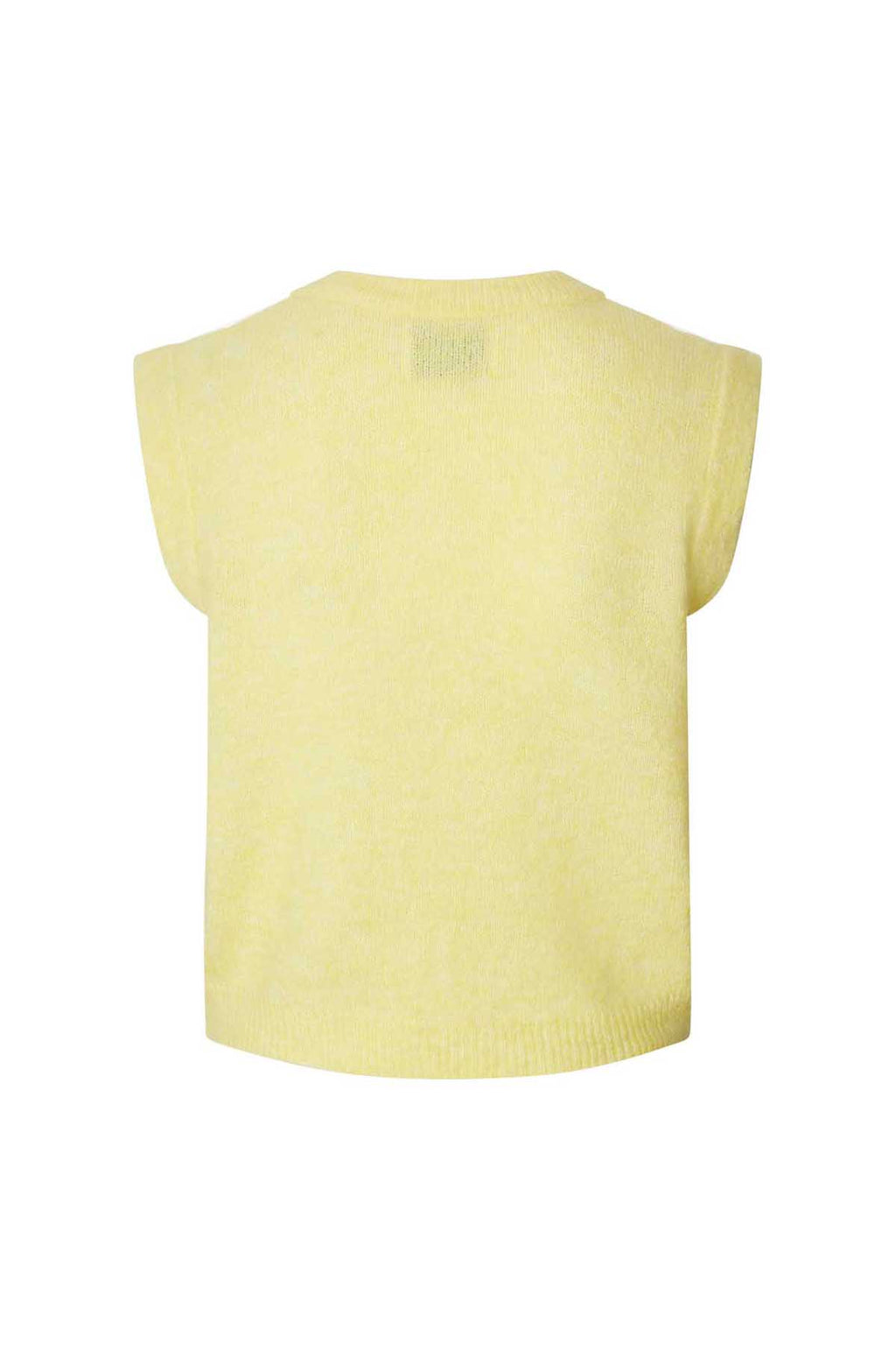 Sam Knitted Vest in Light Yellow