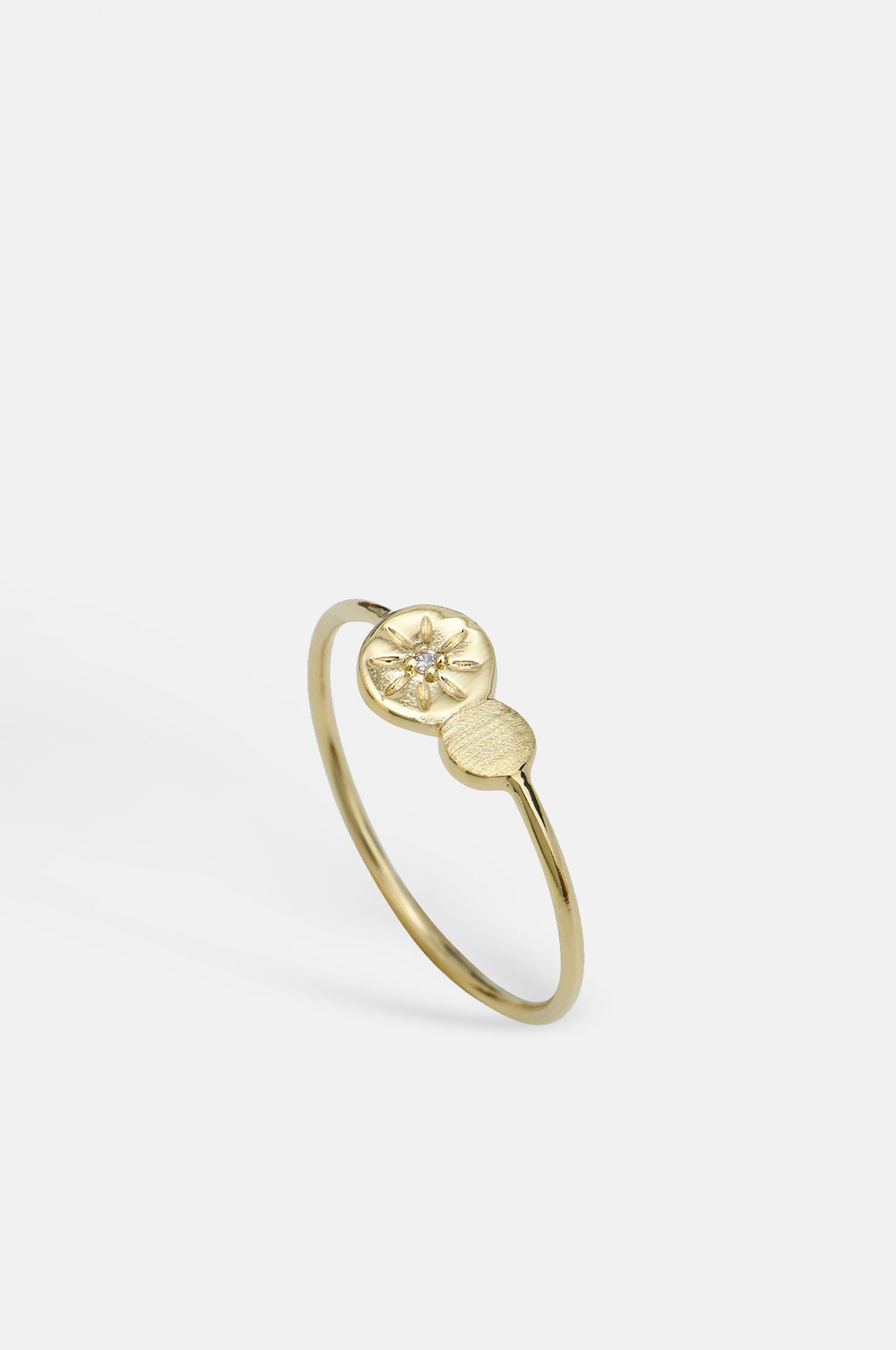 Sania Sparkle Coins Gold Ring
