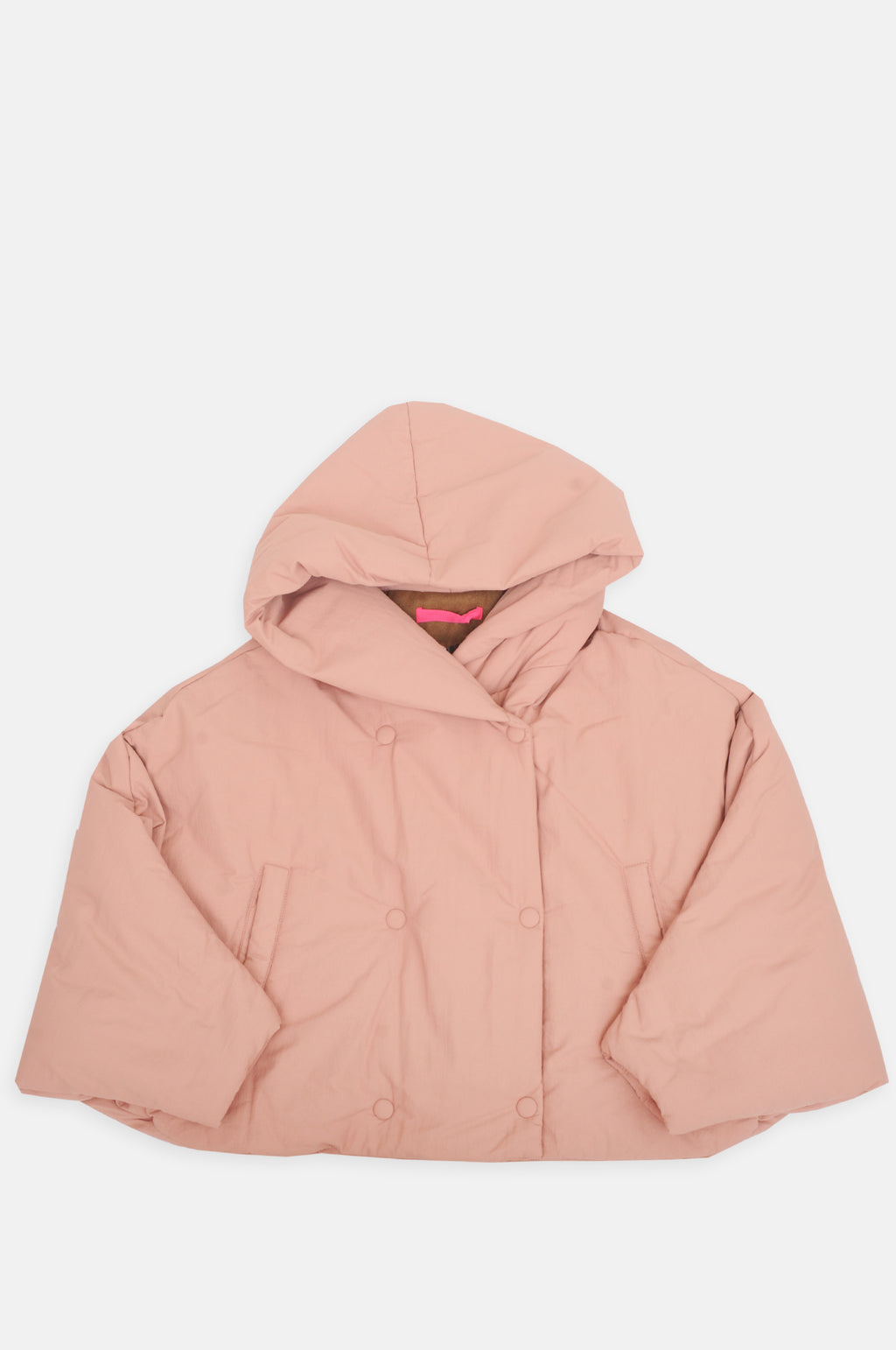 Short Puff Jacket in Pink