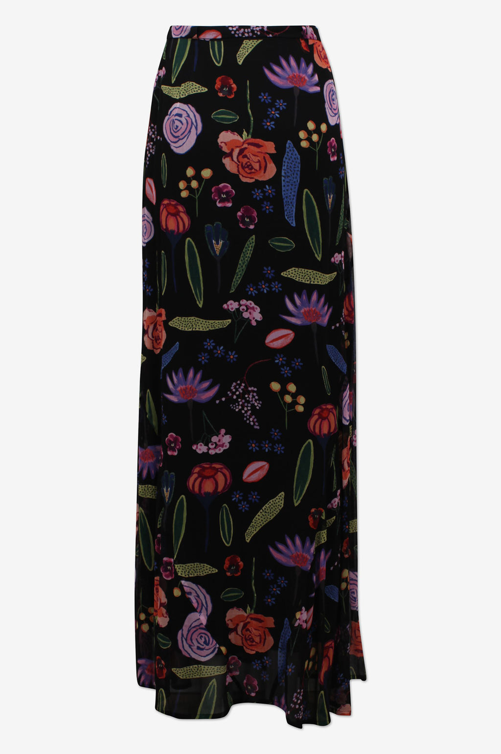 Sibyl Skirt in Black Hampton Garden