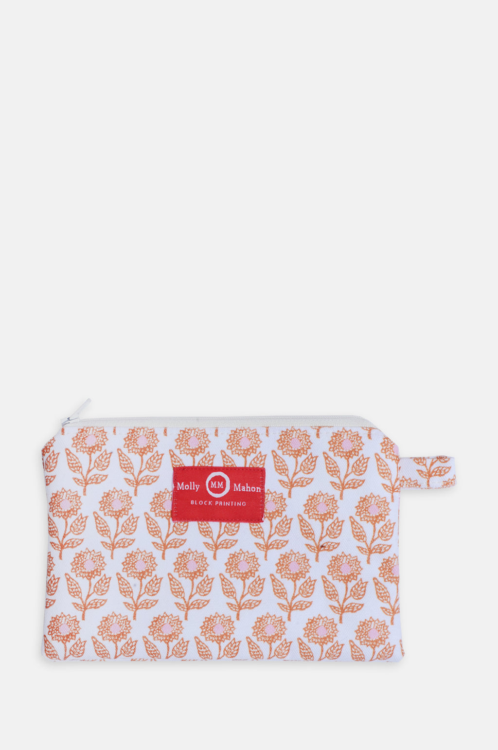 Small Washbag in Orange Flower