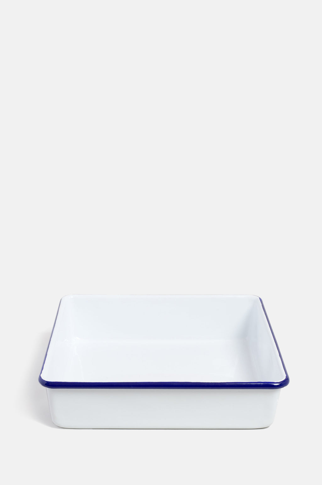 Square Bake Tray Original White