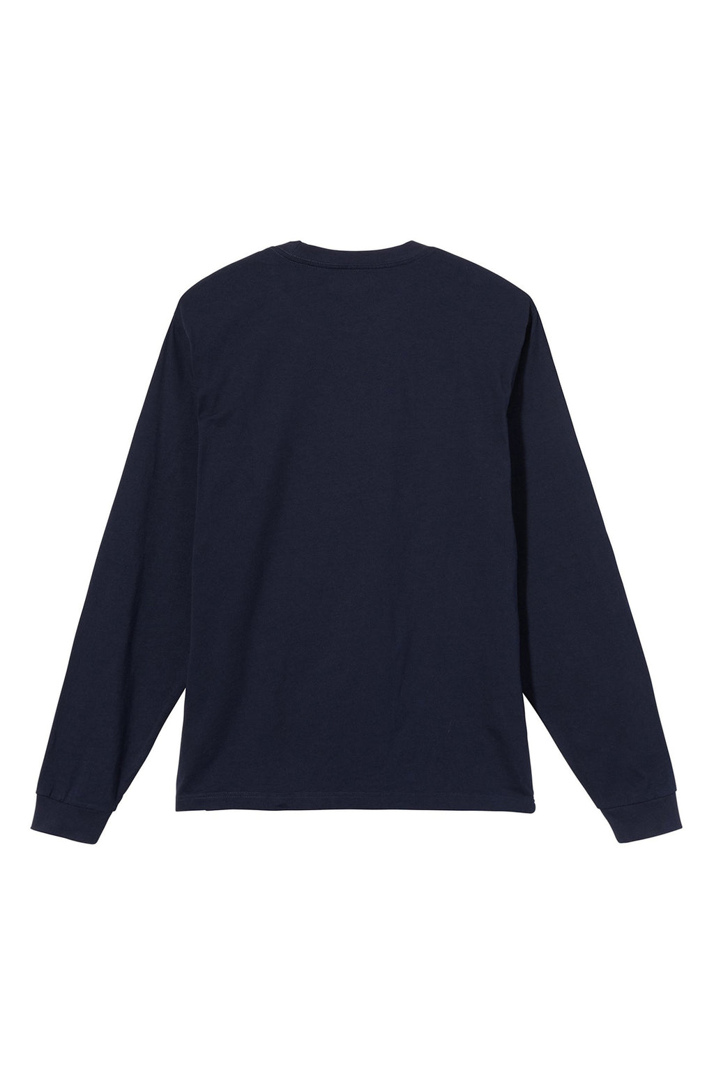 Stock Logo Long Sleeve Crew T Shirt in Navy
