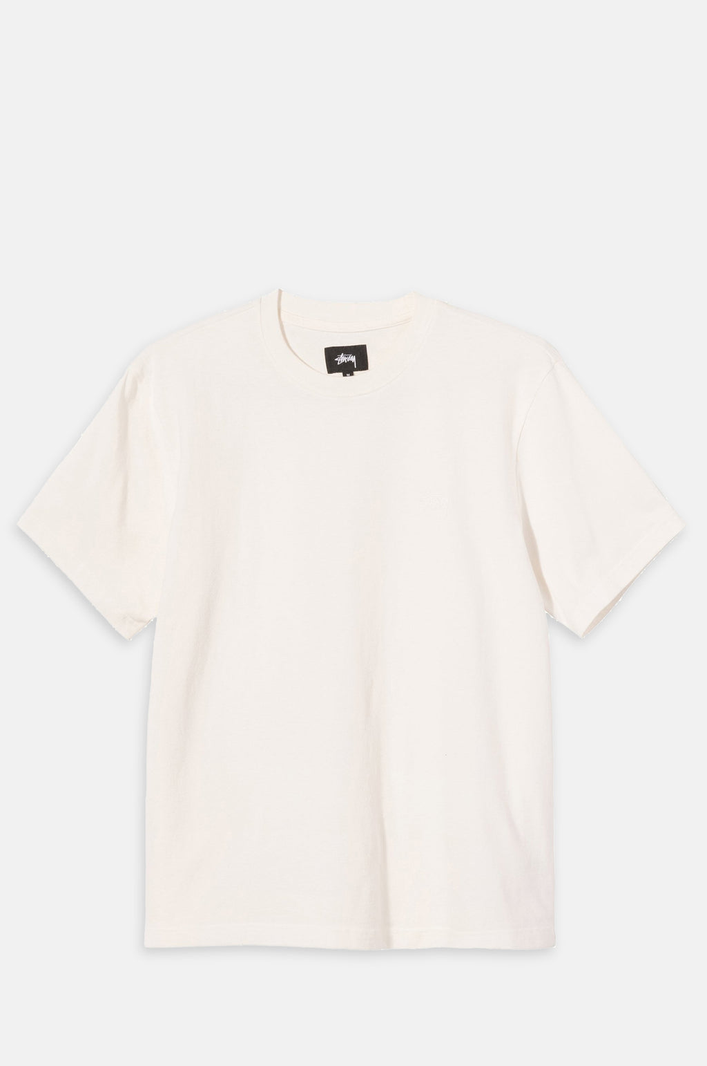 Stock Logo Short Sleeve Crew T Shirt in Natural