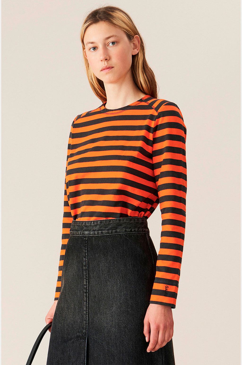 Striped Pullover in Flame