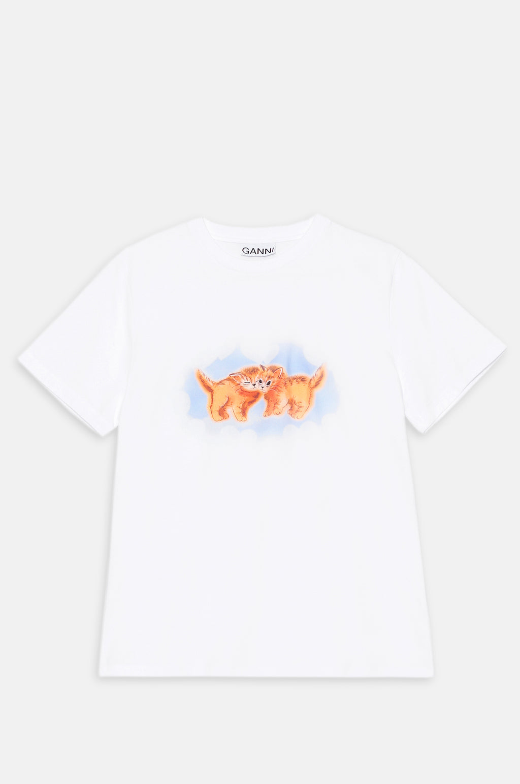 Cat T Shirt in Bright White
