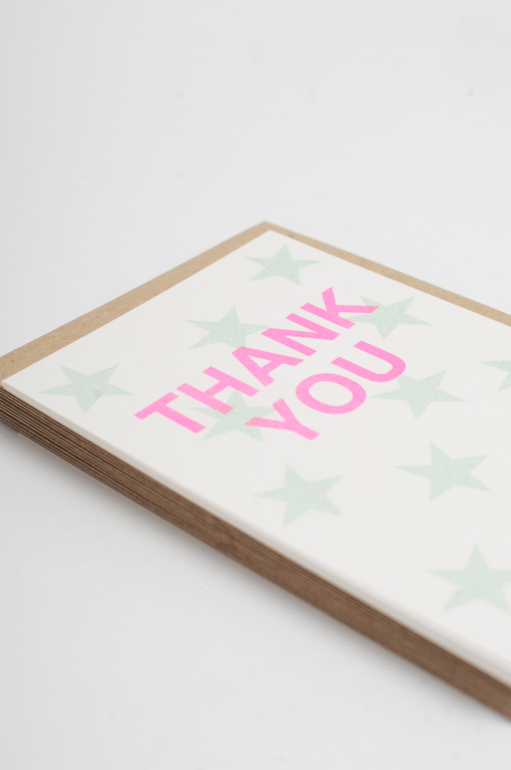 12 Thank You Cards with Green Stars