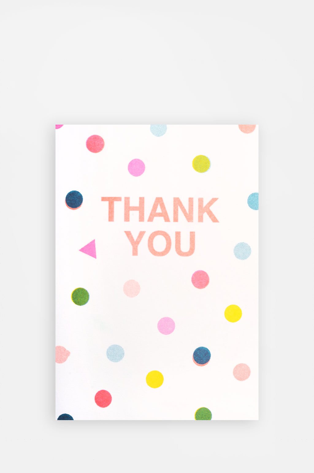Thank You Spots Riso Shapes Card