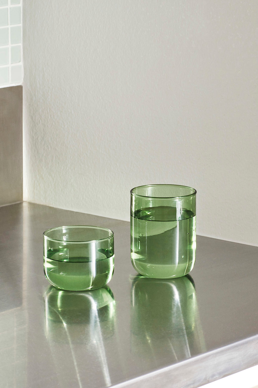 Set of 2 Tint Tumblers in Green