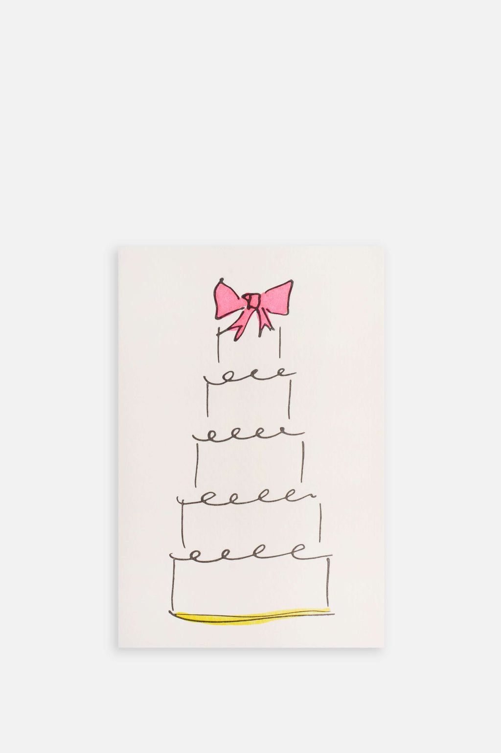 Wedding Cake Card in Pink