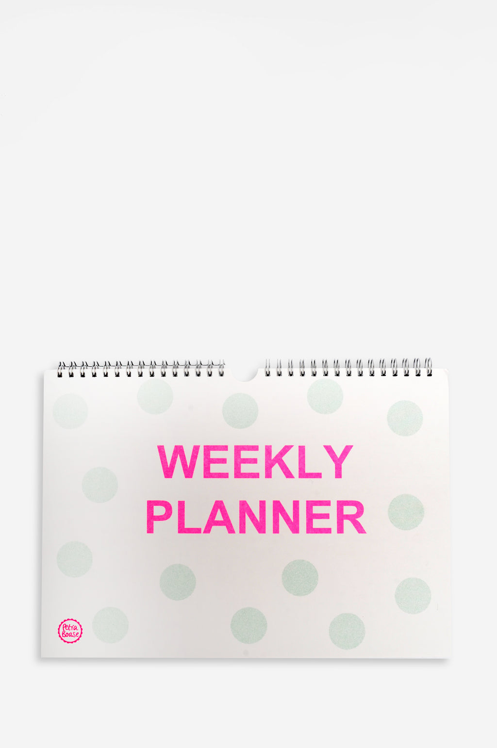 Weekly Planner with Green Spots