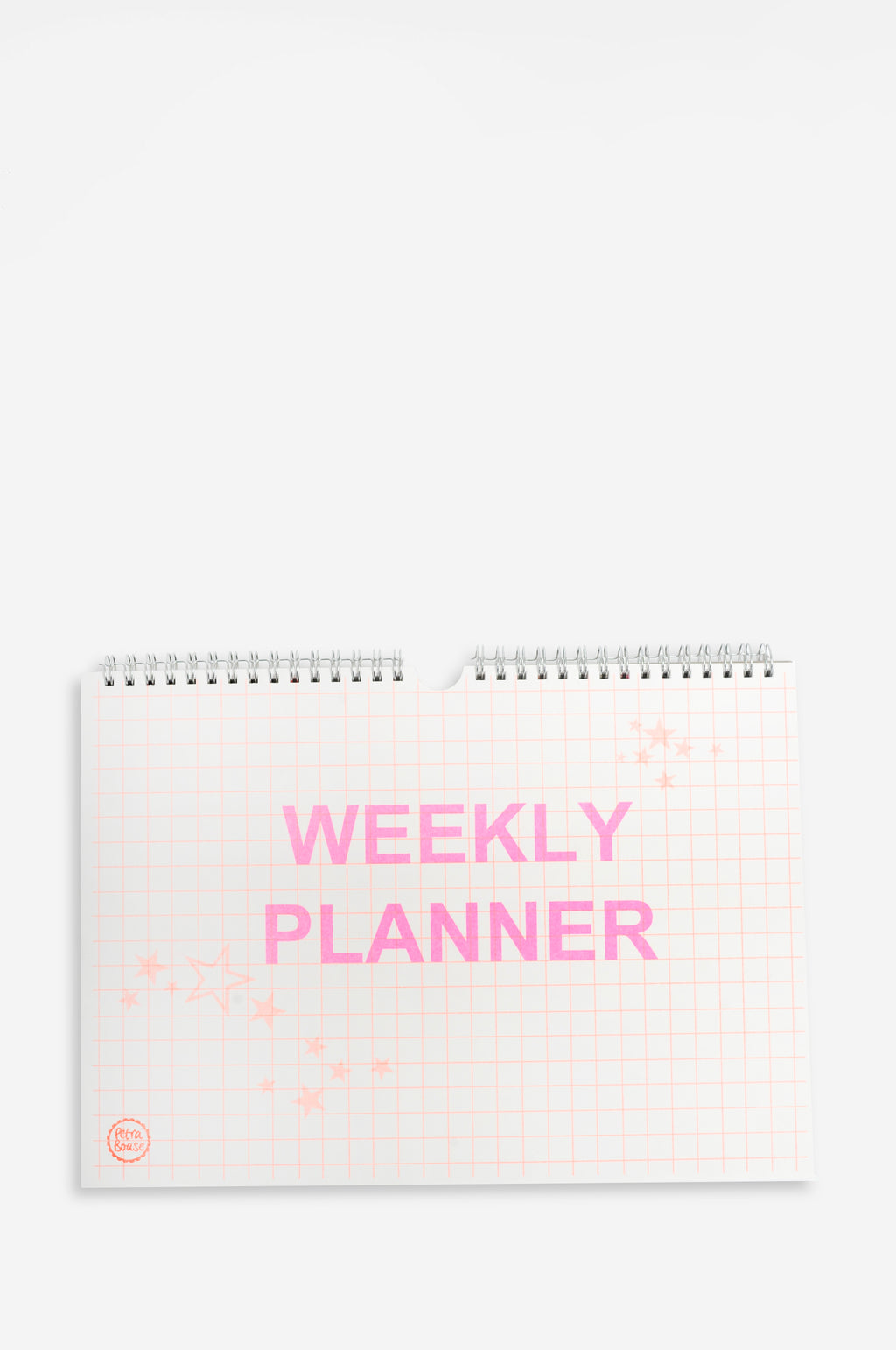 Weekly Planner with Neon Orange Stars