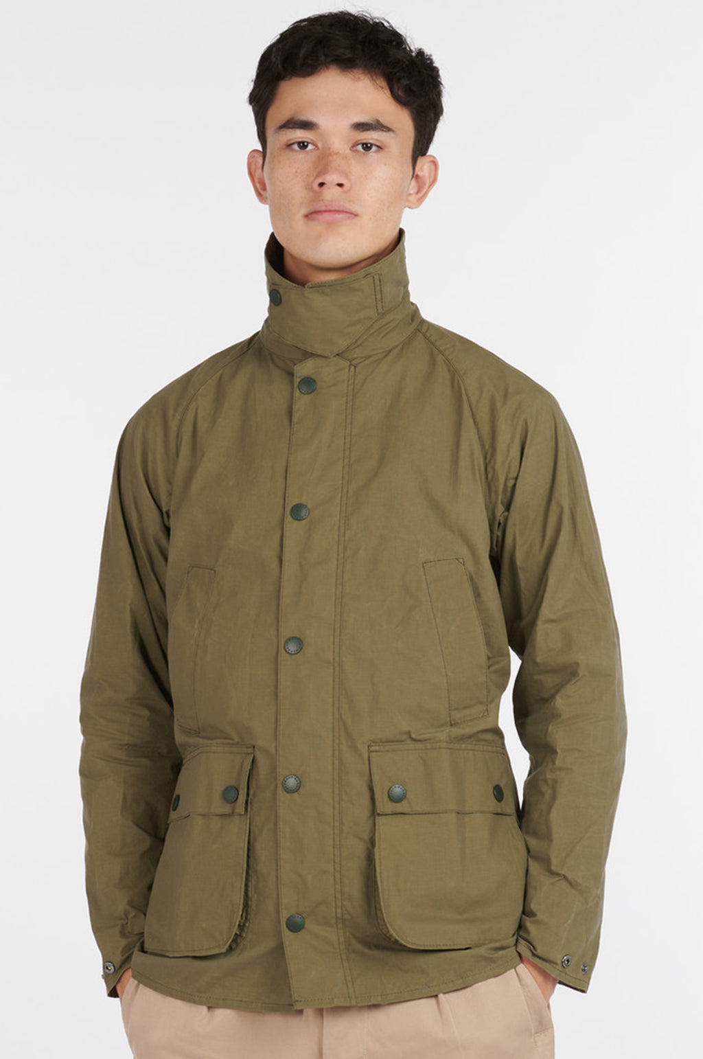 Slim Bedale Jacket in Green (White Label)