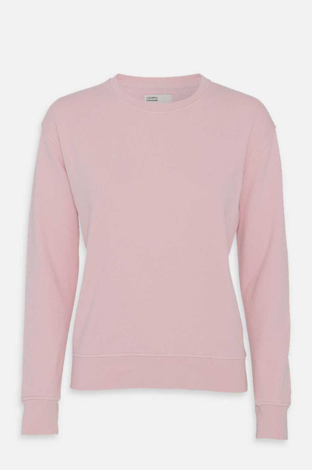 Women`s Classic Crew Sweatshirt in Faded Pink