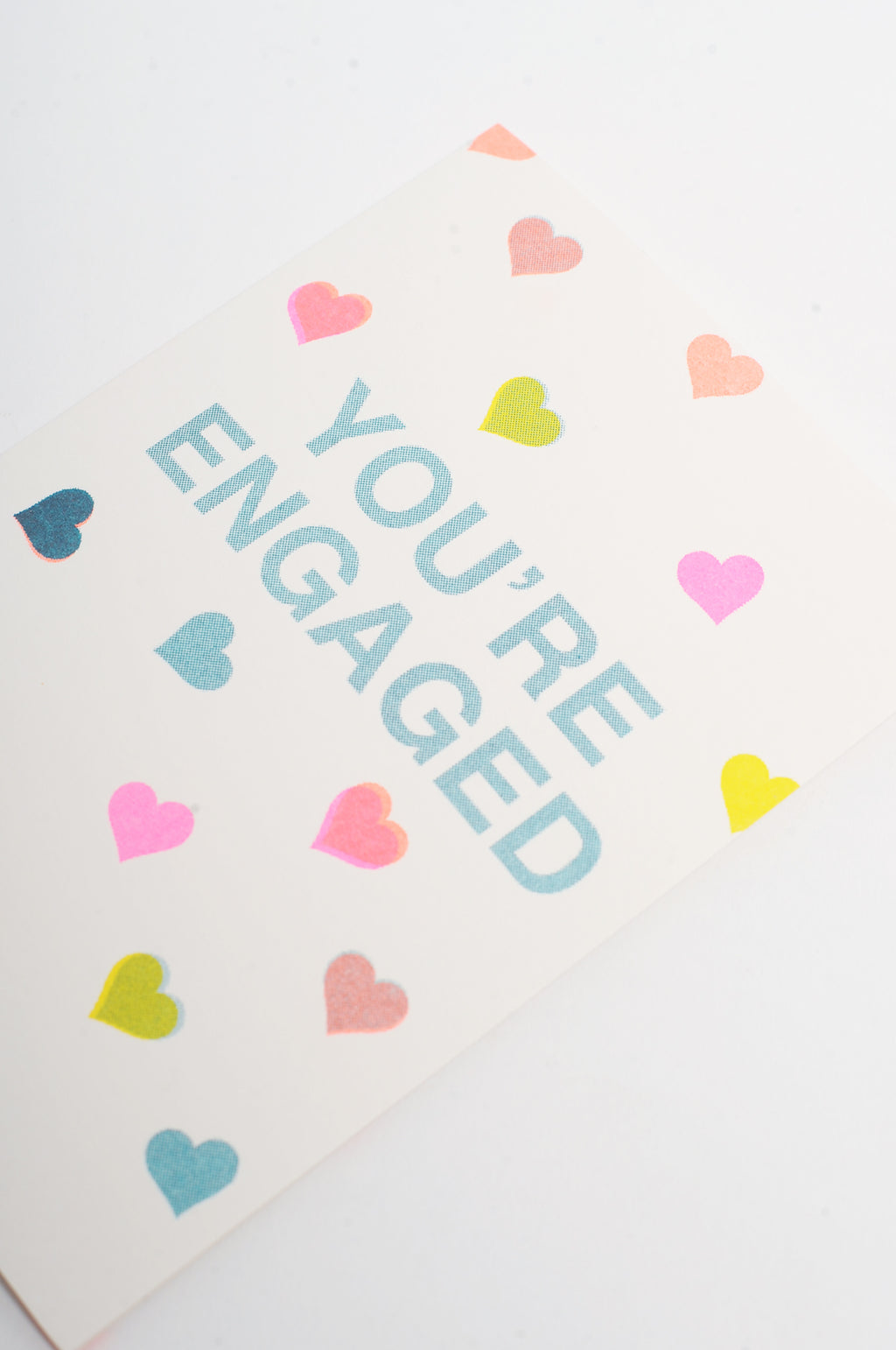 Youre Engaged Riso Shapes Card