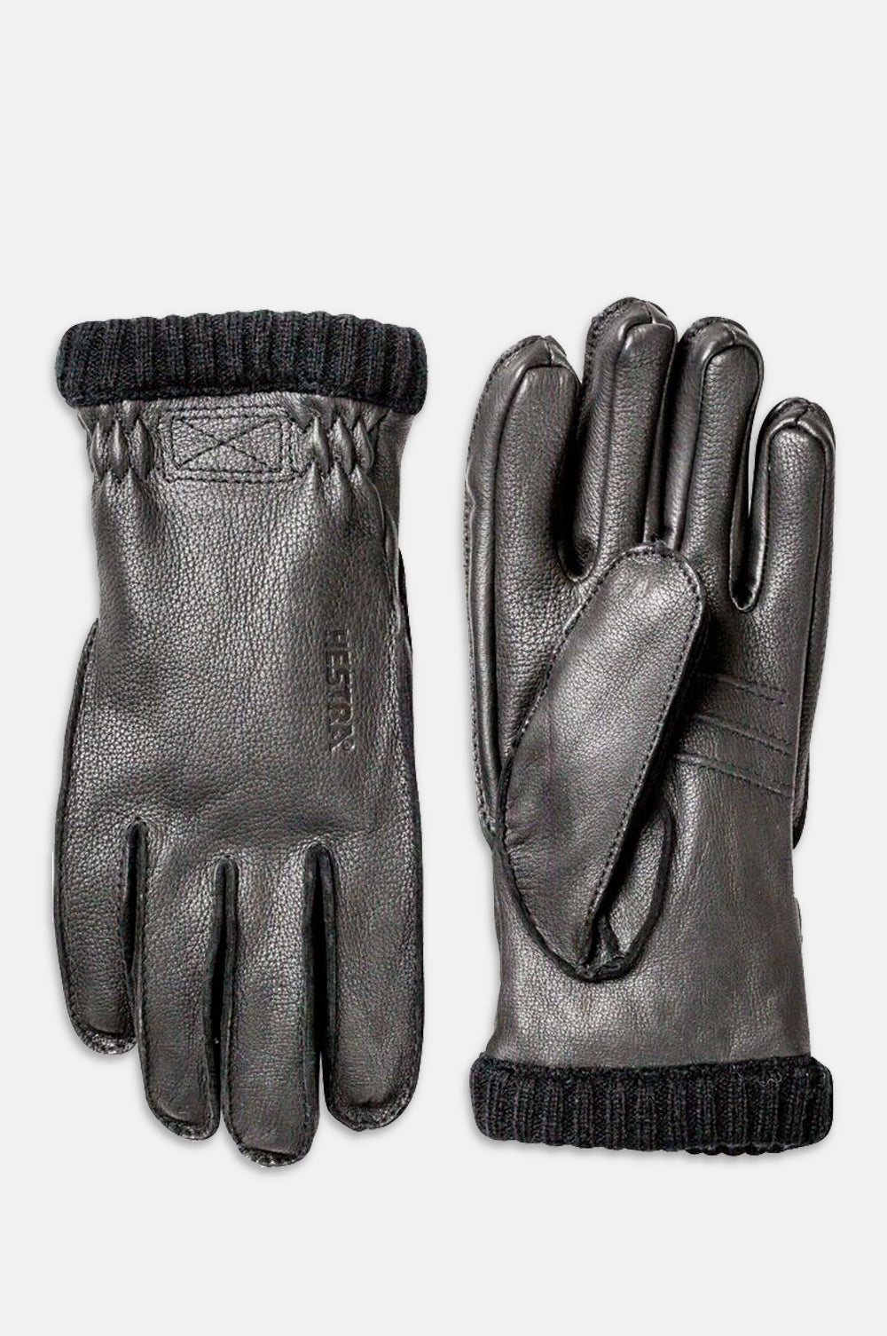 Deerskin Rib Cuff Glove in Black