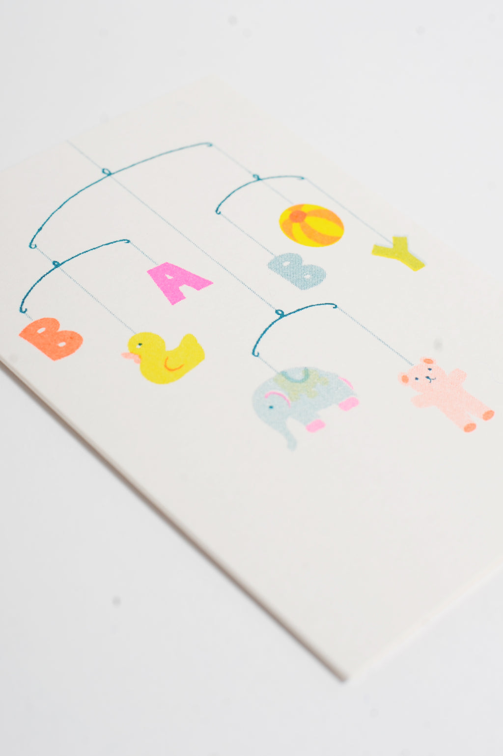 Baby Mobile Riso Card