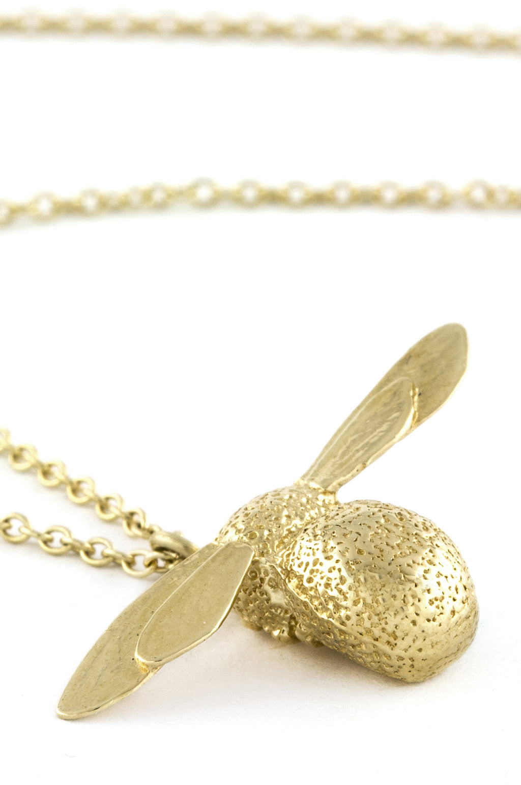 Baby Bee Necklace Gold Plate