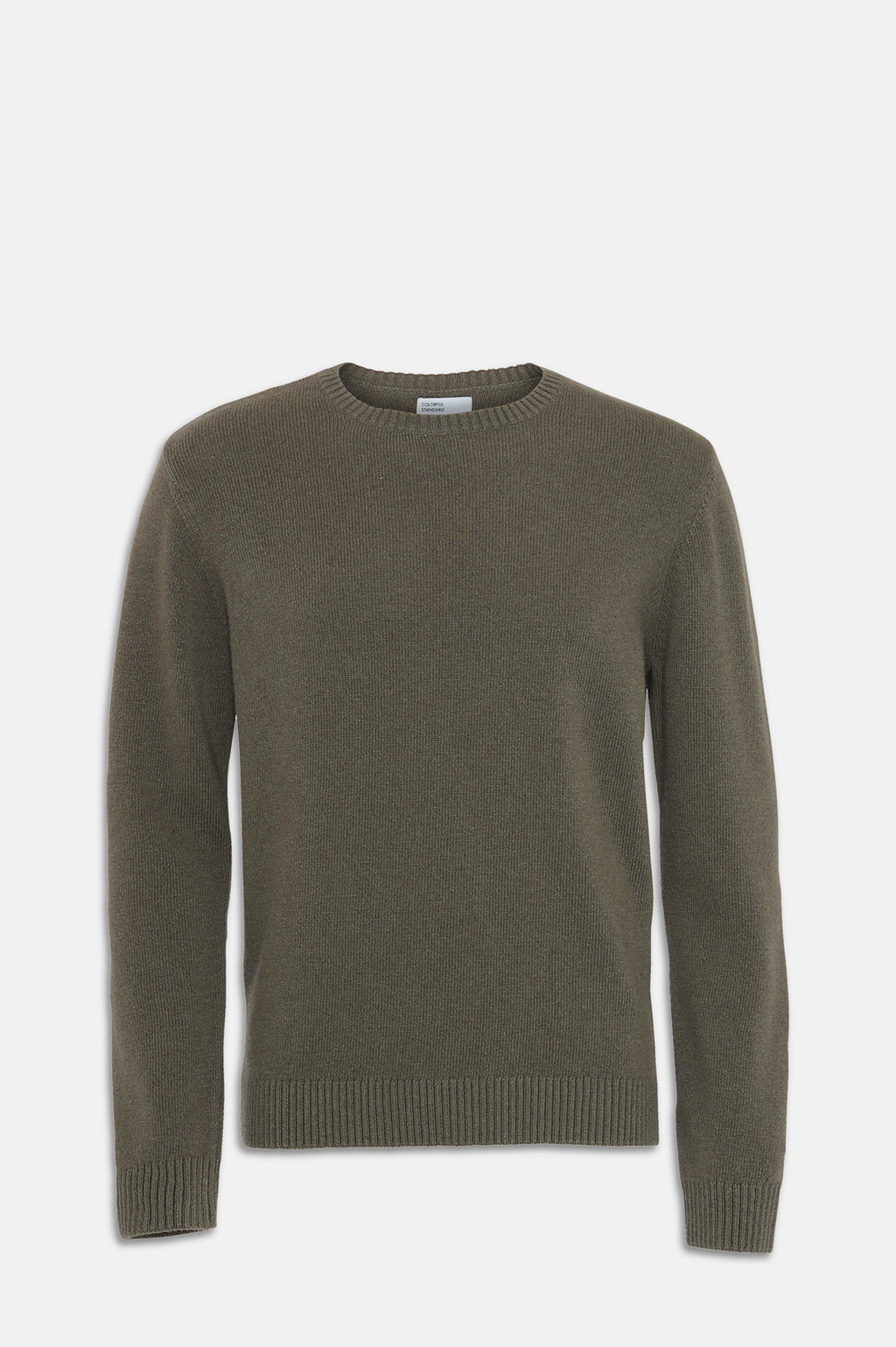ReMade Wool Crew Jumper in Dusty Olive