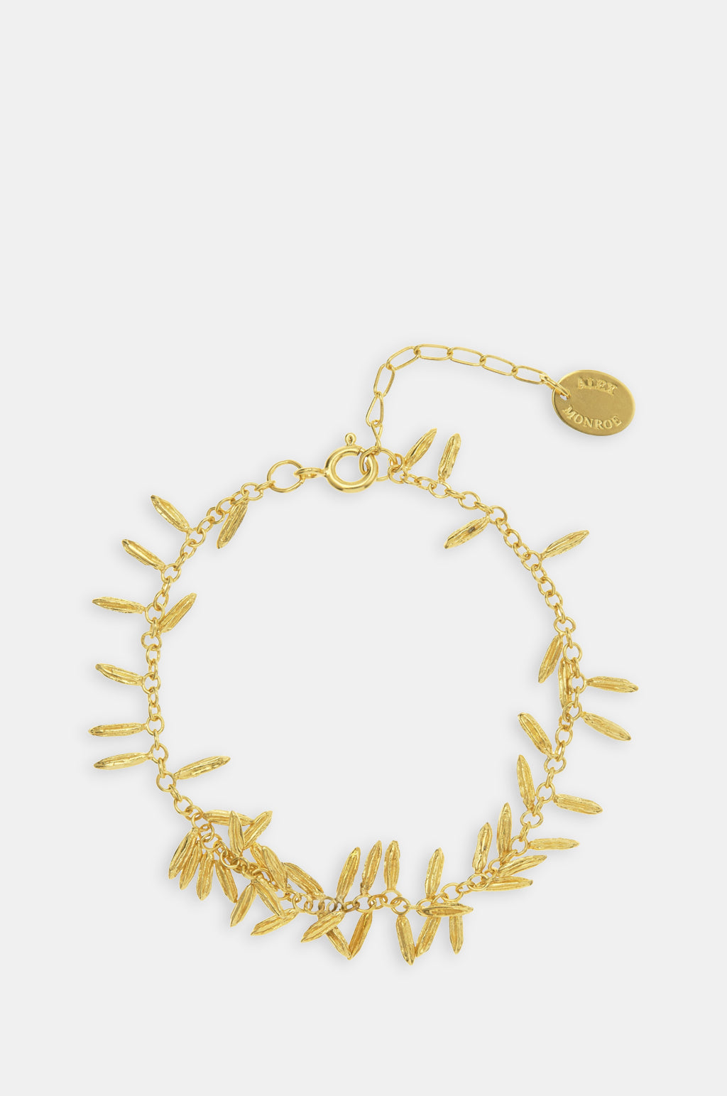 Fennel Kissing Seed Bracelet Gold Plate