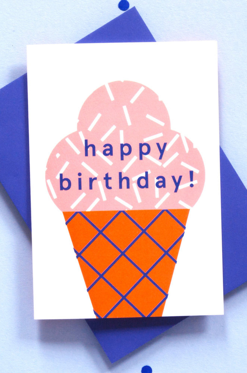 Ola Jr Birthday Ice Cream Card