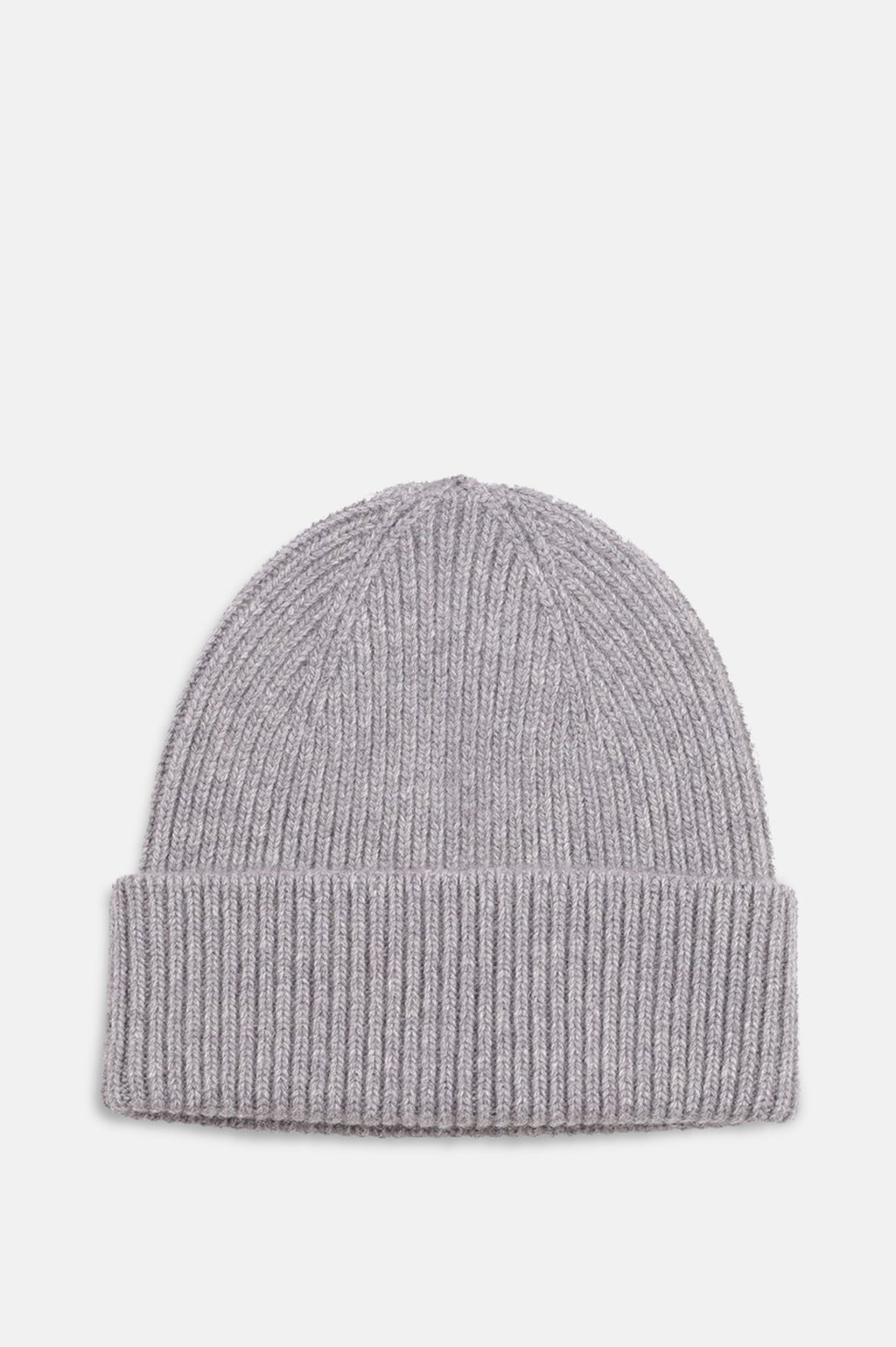 ReMade Wool Beanie Hat in Heather Grey